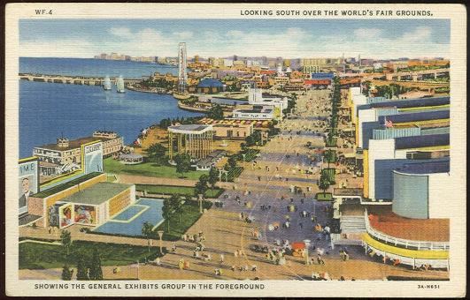 GENERAL VIEW OF FAIR, A CENTURY OF PROGRESS, INTERNATIONAL EXPOSITION 1933, CHICAGO, ILLINOIS, Postcard