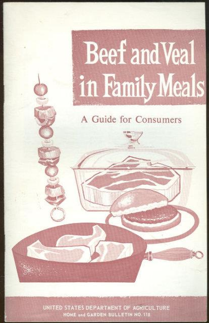 BEEF AND VEAL IN FAMILY MEALS A Guide for Consumers, U. S. Department Of Agriculture