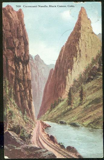 CURRECANTI NEEDLE, BLACK CANON, COLORADO, Postcard