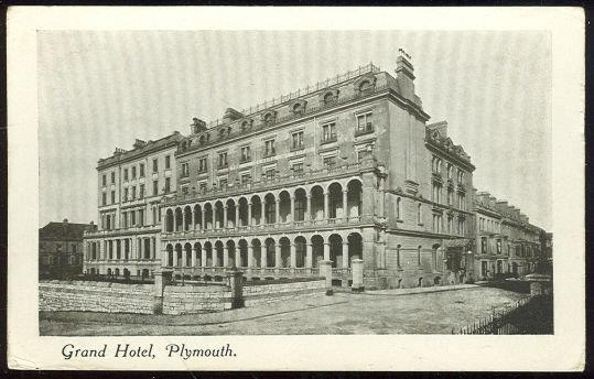 GRAND HOTEL, PLYMOUTH, ENGLAND, Postcard