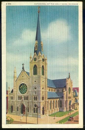 CATHEDRAL OF THE HOLY NAME, CHICAGO, ILLINOIS, Postcard