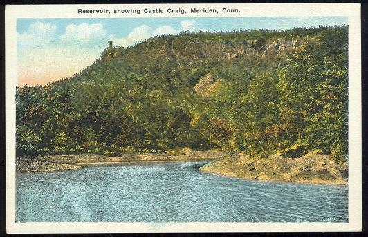 Image for RESERVOIR, SHOWING CASTLE CRAIG, MERIDEN, CONNECTICUT