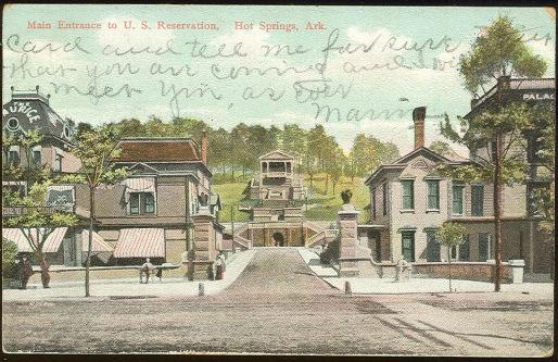 Image for MAIN ENTRANCE TO US RESERVATION HOT SPRINGS, ARKANSAS