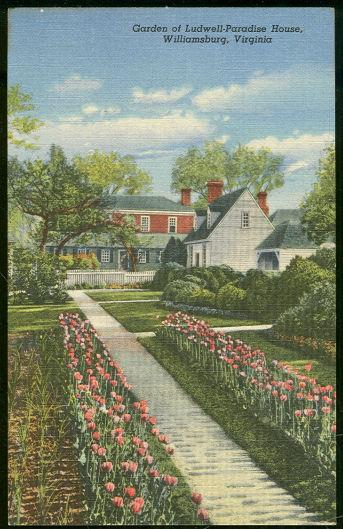 GARDEN OF LUDWELL-PARADISE HOUSE, WILLIAMSBURG, VIRGINIA, Postcard
