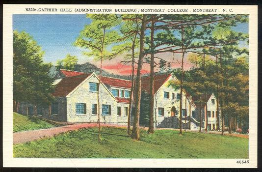GAITHER HALL, MONTREAT COLLEGE, MONTREAT, NORTH CAROLINA, Postcard