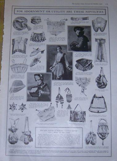 Image for 1916 LADIES HOME JOURNAL FOR ADORNMENT OR UTILITY NOVELTIES ARE THESE NOVELETIES