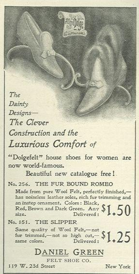 1901 LADIES HOME JOURNAL DANIEL GREEN DOLGEFELT HOUSE SHOES MAGAZINE ADVERTISEMENT, Advertisement