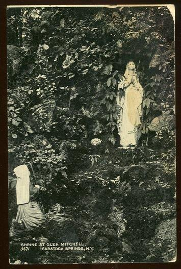 SHRINE AT GLEN MITCHELL, SARATOGA SPRINGS, NEW YORK, Postcard