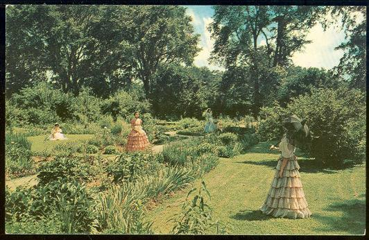 Image for SOUTHERN BELLES IN THE FLOWER GARDEN AT MY OLD KENTUCKY HOME NEAR BRADSTOWN, KENTUCKY