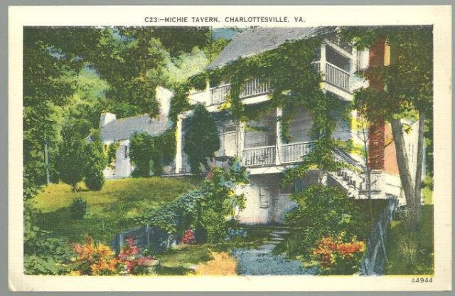 BALLROOM, MICHIE TAVERN, CHARLOTTESVILLE, VIRGINIA, Postcard