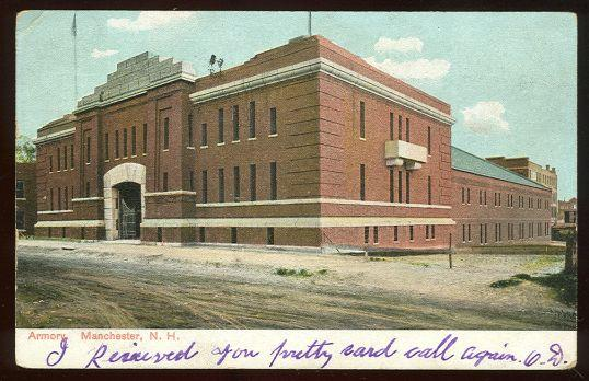ARMORY, MANCHESTER, NEW HAMPSHIRE, Postcard