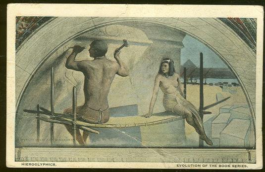 HIEROGLYPHICS BY JOHN ALEXANDER Evolution of the Book, Postcard