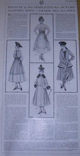 Image for 1916 LADIES HOME JOURNAL SIMPLICITY AND CHARMS OF AUTUMN CLOTHES