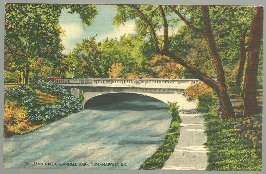 BEAN CREEK, GARFIELD PARK, INDIANAPOLIS, INDIANA, Postcard