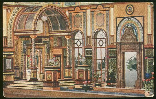 Image for TUCK'S POSTCARD OF GREAT THRONE ROOM IN TITANIA'S PALACE