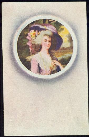 LOVELY EIGHTEENTH CENTURY LADY IN HAT, Postcard