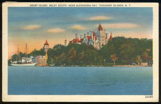 HEART ISLAND, BOLDT ESTATE, THOUSAND ISLANDS, NEW YORK, Postcard