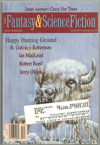 MAGAZINE OF FANTASY AND SCIENCE FICTION, DECEMBER 1995, Magazine Of Fantasy and Science Fiction