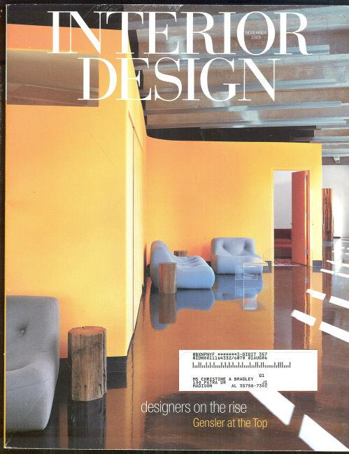 Image for INTERIOR DESIGN MAGAZINE NOVEMBER 2005