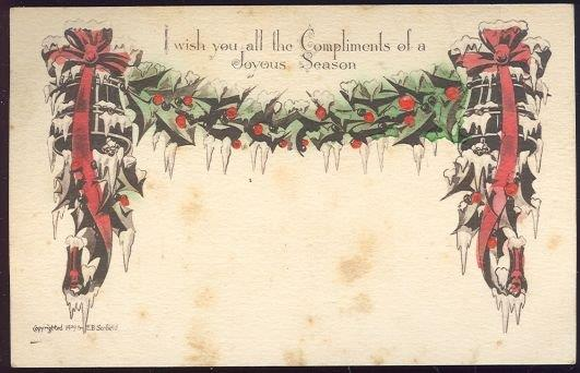 Image for POSTCARD WISHING ALL THE COMPLIMENTS OF A JOYOUS SEASON
