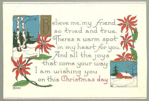 WISHING YOU JOYS ON CHRISTMAS DAY, Postcard