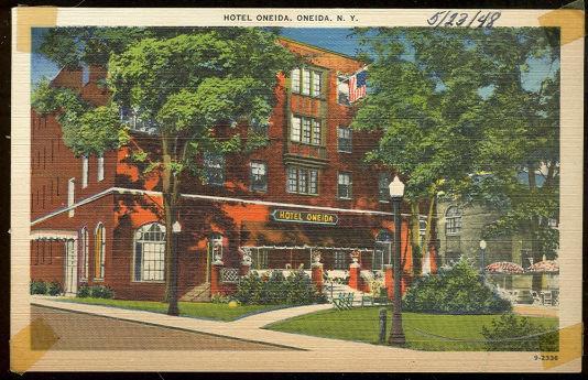 HOTEL ONEIDA, ONEIDA, NEW YORK, Postcard