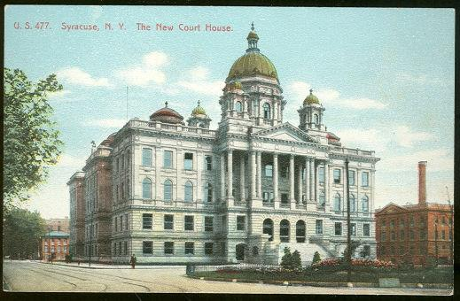 NEW COURT HOUSE, SYRACUSE, NEW YORK, Postcard
