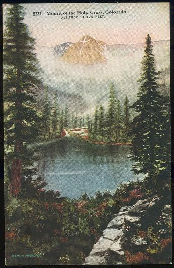 MOUNT OF THE HOLY CROSS, COLORADO, Postcard