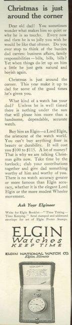 1915 LADIES HOME JOURNAL LORD ELGIN WATCH MAGAZINE ADVERTISEMENT, Advertisement