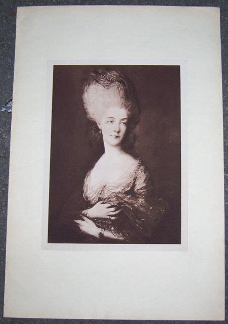 Image for PRINT OF A LOVELY EIGHTEENTH CENTURY LADY