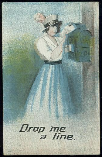 Image for LOVELY VICTORIAN LADY MAILING A LETTER
