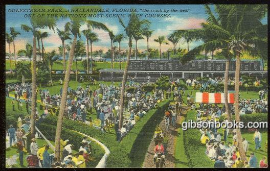 GULFSTREAM PARK AT HALLANDALE, FLORIDA, Postcard