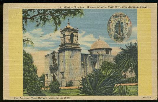 MISSION SAN JOSE, SAN ANTONIO, TEXAS, Postcard