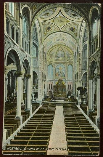 INTERIOR ST. JAMES CATHEDRAL, MONTREAL, CANADA, Postcard