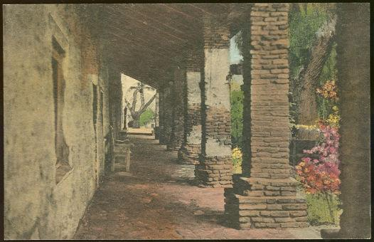 BARRACKS CORRIDOR OLD MISSION SAN JUAN CAPISTRANO, CALIFORNIA, Postcard