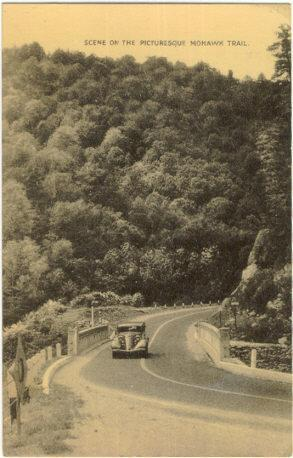 SCENE ON THE PICTURESQUE MOHAWK TRAIL, Postcard