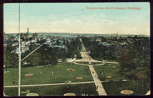 TORONTO, ONTARIO, CANADA FROM PARLIAMENT BUILDINGS, Postcard