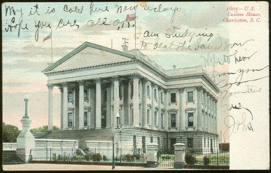 U. S. CUSTOM HOUSE, CHARLESTON, SOUTH CAROLINA, Postcard