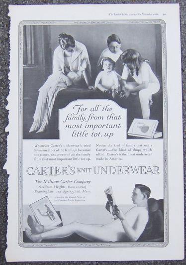 1916 LADIES HOME JOURNAL CARTER'S KNIT UNDERWEAR ADVERTISEMENT, Advertisement