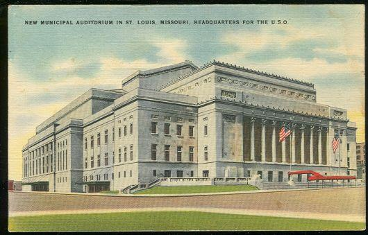 Image for HEADQUARTERS FOR THE USO ST. LOUIS, MISSOURI