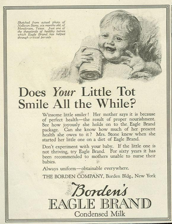 Image for 1921 LADIES HOME JOURNAL BORDEN'S EAGLE BRAND CONDENSED MILK MAGAZINE ADVERTISEMENT