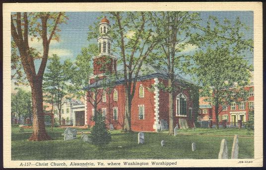 CHRIST CHURCH, ALEXANDRIA, VIRGINIA, Postcard