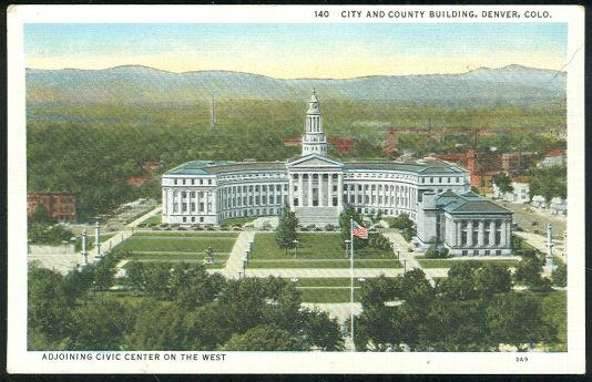 CITY AND COUNTY BUILDING, DENVER, COLORADO, Postcard