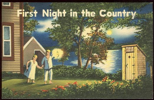 Image for COMIC POSTCARD OF FIRST NIGHT IN THE COUNTRY