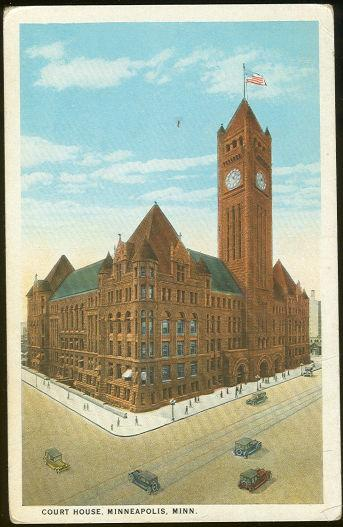 COURT HOUSE, MINNEAPOLIS, MINNESOTA, Postcard