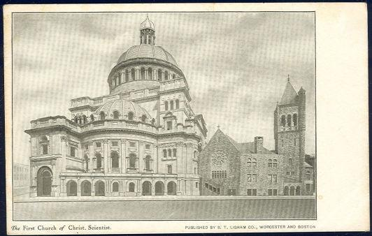 FIRST CHURCH OF CHRIST SCIENTIST, BOSTON, MASSACHUSETTS, Postcard