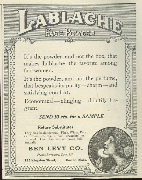 Image for 1921 LADIES HOME JOURNAL LABLACHE FACE POWDER MAGAZINE ADVERTISEMENT
