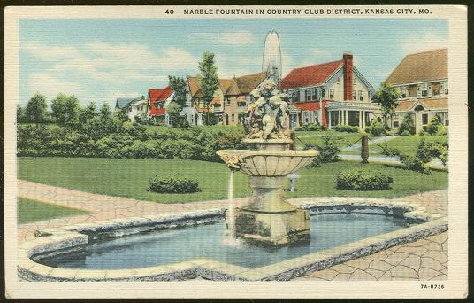 Image for MARBLE FOUNTAIN IN COUNTRY CLUB DISTRICT KANSAS CITY, MISSOURI