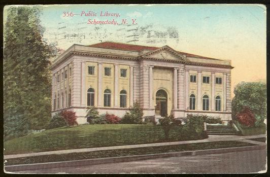 PUBLIC LIBRARY, SCHENECTADY, NEW YORK, Postcard