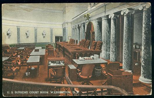 U.S. SUPREME COURT ROOM, WASHINGTON D.C., Postcard